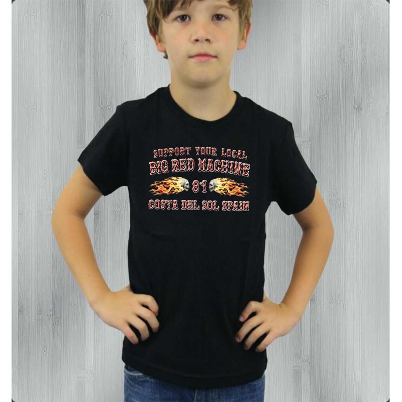 Hells Angels Support81 Costa Del Sol Flames Black Children's T-Shirt