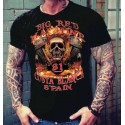 Hells Angels Big Red Machine Nuckle Support81 Black T-Shirt