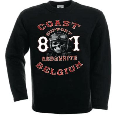 Hells Angels Coast Belgium Helmet scull Support81 sudadera negra