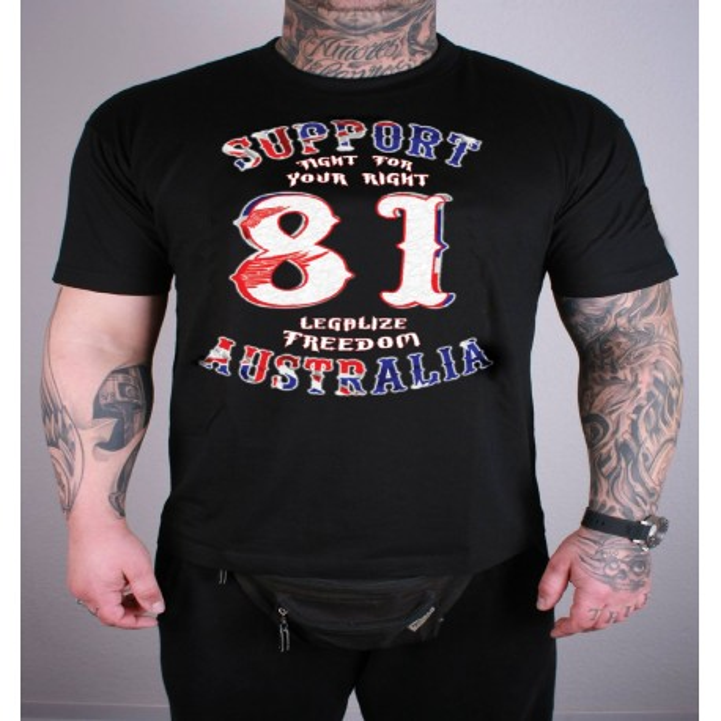 Hells Angels Australia Big Red Machine Freedom T-Shirt black