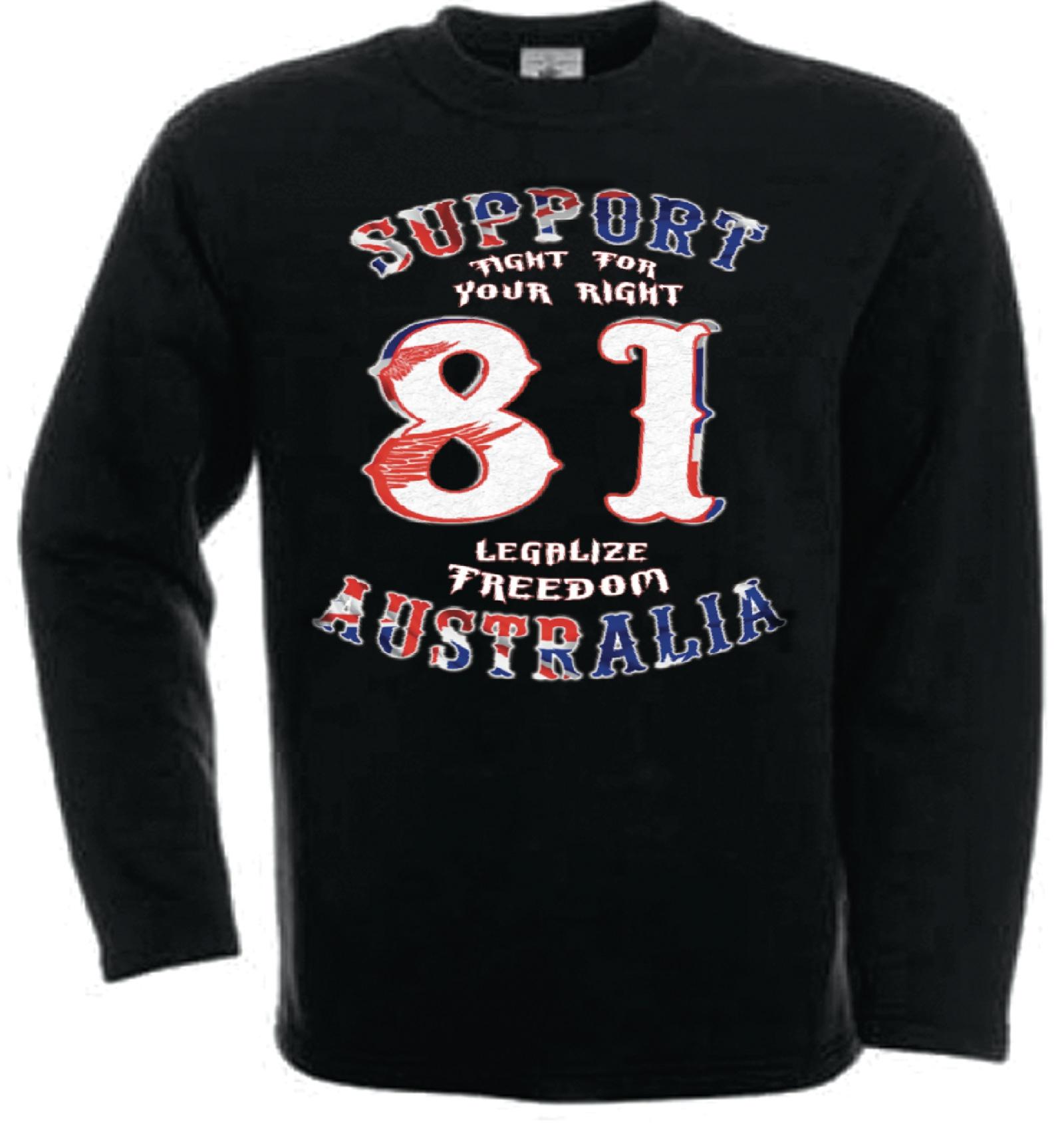 49 hells angels australia bhc freedom support81 sweatshirt. Black Bedroom Furniture Sets. Home Design Ideas