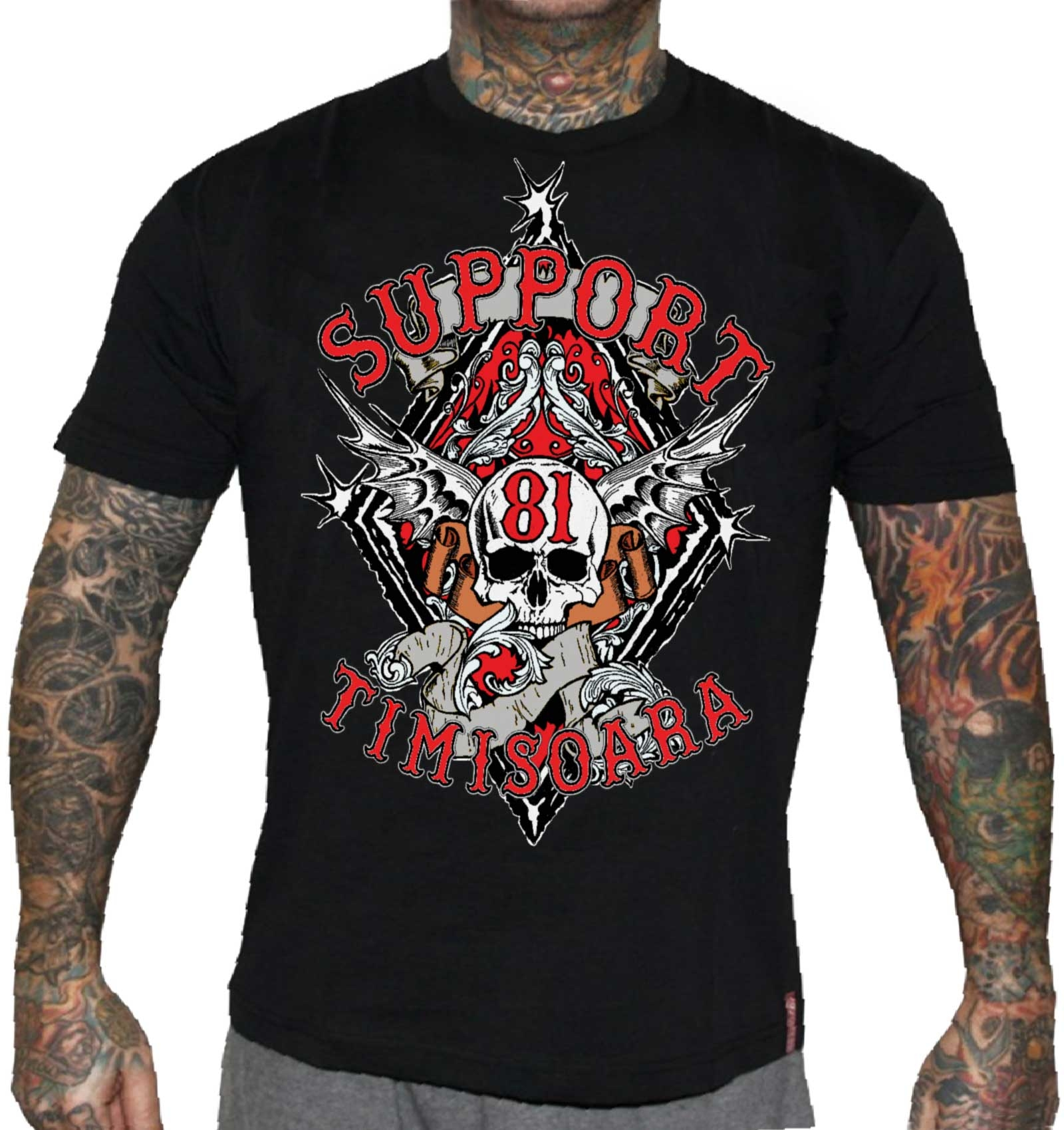 49 hells angels timisoara support81 t shirt red and white. Black Bedroom Furniture Sets. Home Design Ideas