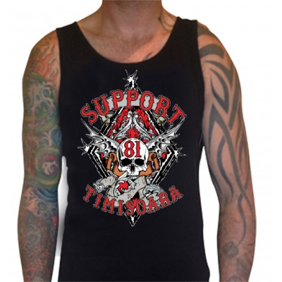 Hells Angels Timisoara Support81 Camiseta Tirantes