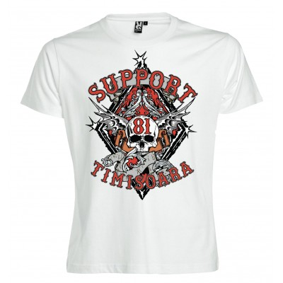 Hells Angels Timisoara Support81 camiseta blanca