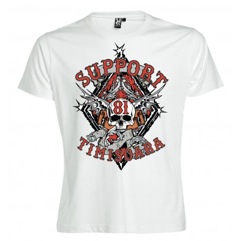 Hells Angels Timisoara Support81 White T-Shirt