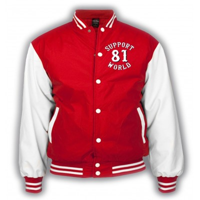 Hells Angels  Support81 Varsity Jacket Red