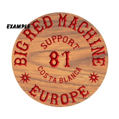Hells Angels Carved Wood Sign Support 81 Europe