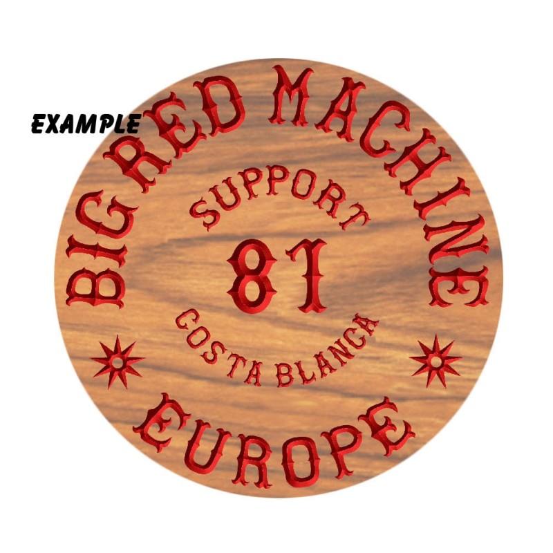 Hells Angels Holz Schild Support 81 Costa Blanca Europe
