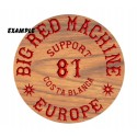 Carved Wood Sign Support 81 Hells Angels Europe