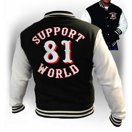 Hells Angels  Support81 Varsity Jacket Black