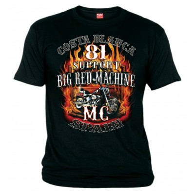 Hells Angels Softtail Flames Support81 Camiseta