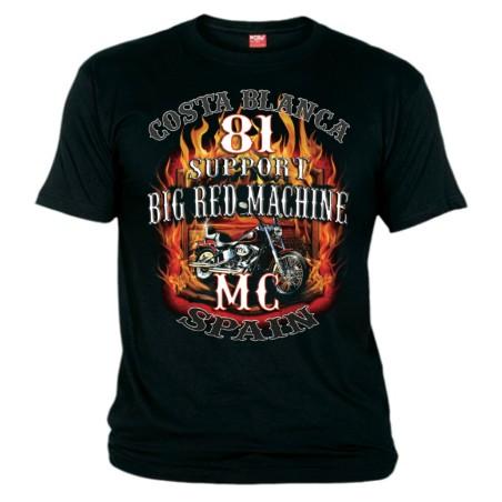 Hells Angels Softtail Flames Support81 T-Shirt