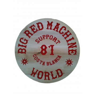 Carved Wood Sign Support 81 Hells Angels World