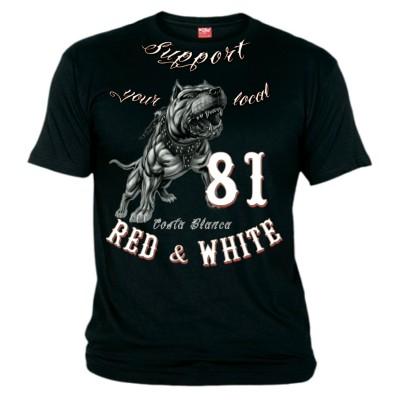 Hells Angels Pitbull Support81 Camiseta