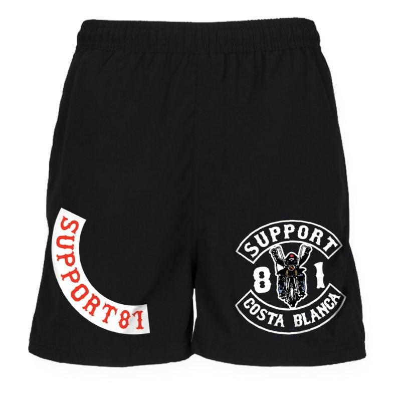 Support 81 Hells Angels Sport Shorts Biker black