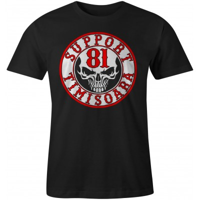 Hells Angels Timisoara Scull Support81 T-Shirt