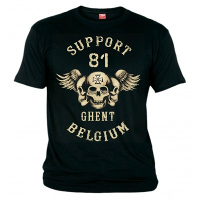 Hells Angels Ghent Support81Belgium three sculls T-Shirt