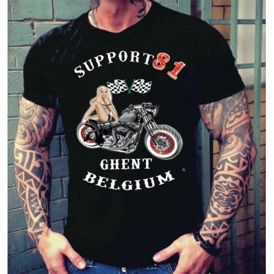 Hells Angels Ghent Support81Belgium PinUp T-Shirt