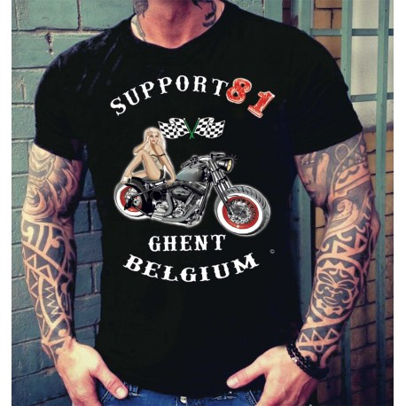 Hells Angels Ghent Belgium PinUp T-Shirt