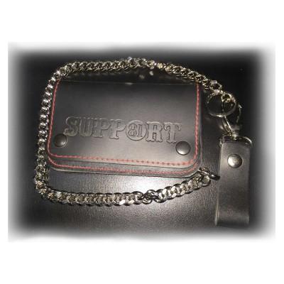 Hells Angels Support81 Wallet schwarz Geldbeutel 15cm