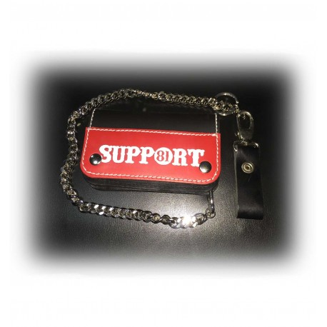 Hells Angels Support81 red black Wallet 15cm with Chain