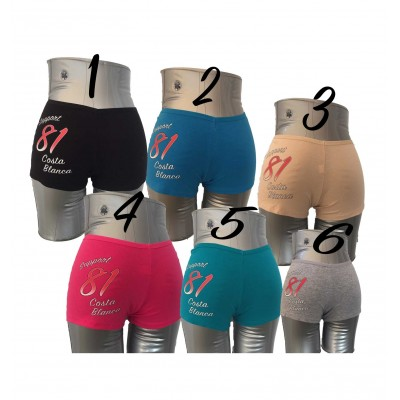 Women's Cotton/Spandex Shortie Panties Support81 Eye