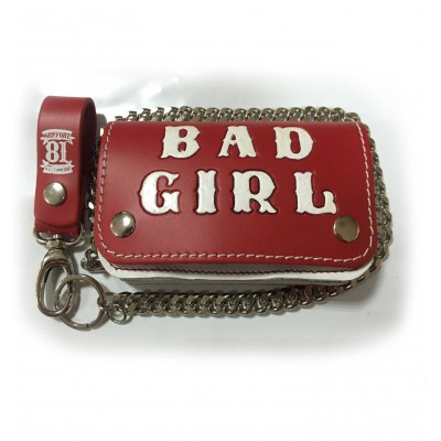 Hells Angels Support81 red white Bad Girl Wallet 15cm with Chain