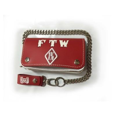 Hells Angels Support81 FTWl Bourse rouge blanc Porte-monnaie 18cm