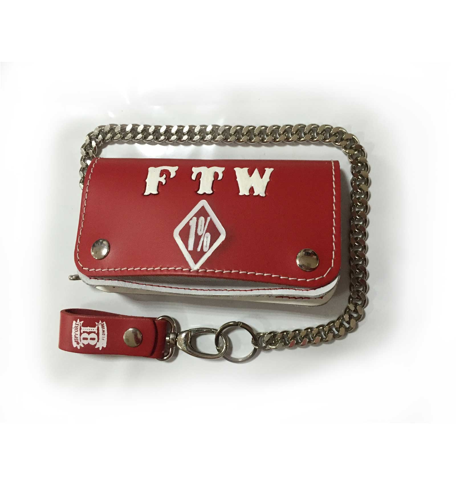 Hells Angels Support81 red white FTW Wallet 18cm with Chain - Hells