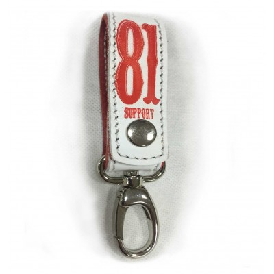 Hells Angels Support81 Keychain Musketon white
