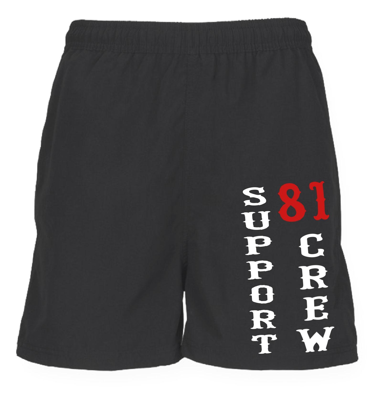 49 support 81 hells angels sport shorts crew black ebay. Black Bedroom Furniture Sets. Home Design Ideas