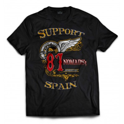 Hells Angels Nomads Spain Support 81 T-Shirt Softail