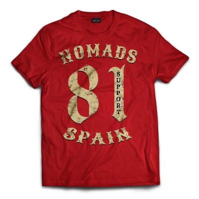 Hells Angels Nomads Spain Support 81 T-Shirt Vintage