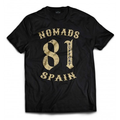 Hells Angels Nomads Spain Support 81 T-Shirt Vintage