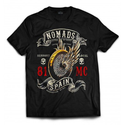 Hells Angels Nomads Spain Support 81 T-Shirt Winged Wheel