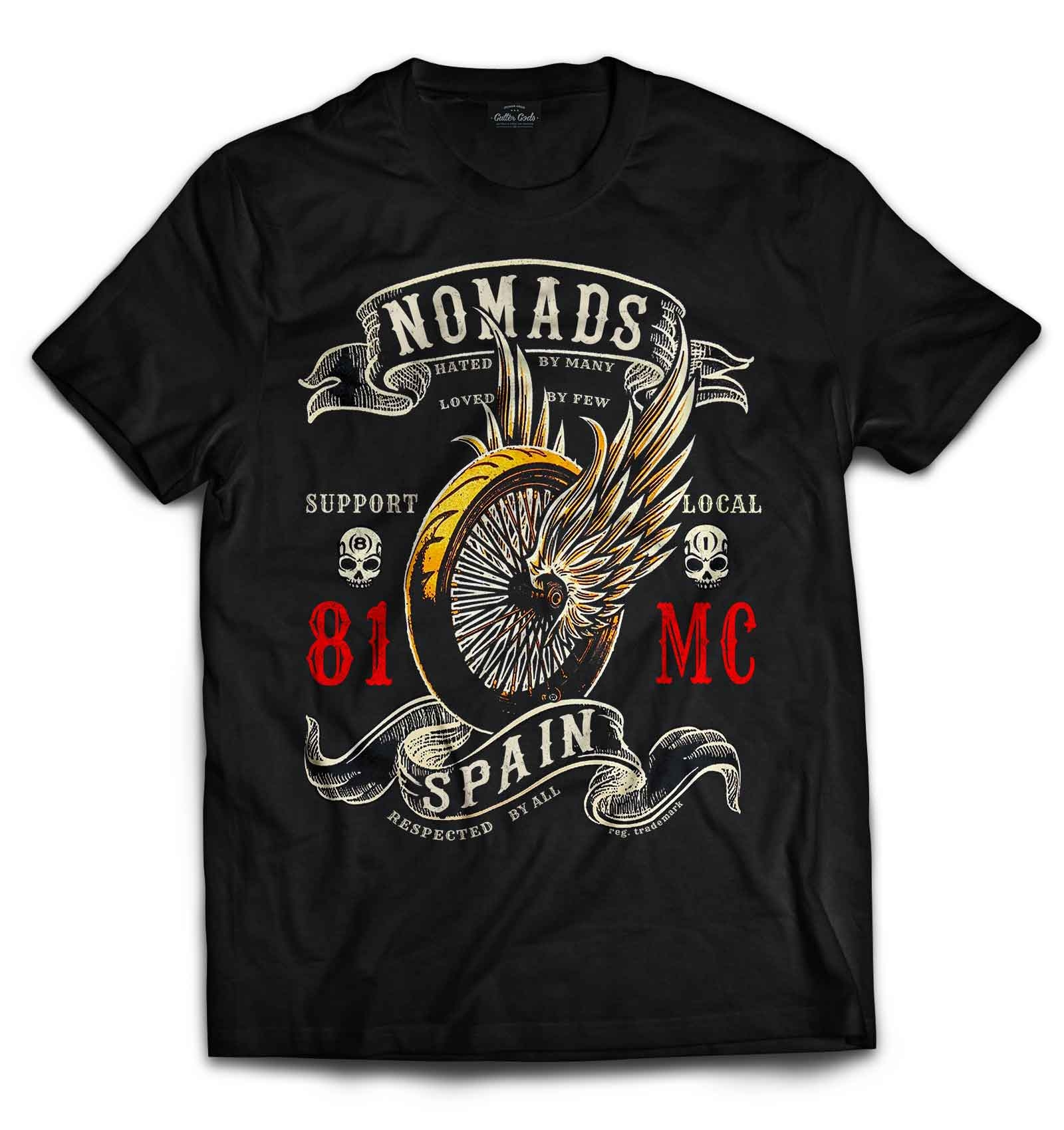 49 hells angels nomads spain support 81 t shirt winged. Black Bedroom Furniture Sets. Home Design Ideas