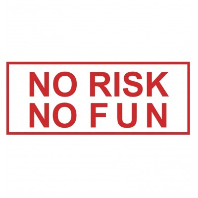 pegatina sticker NO RISK NO FUN