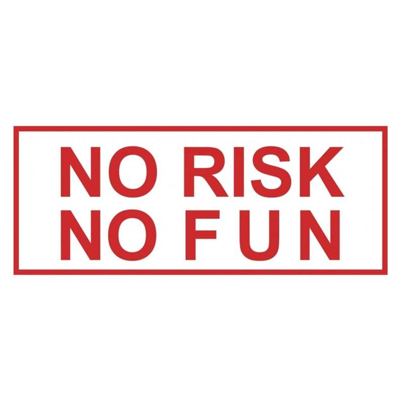 autocollant sticker NO RISK NO FUN