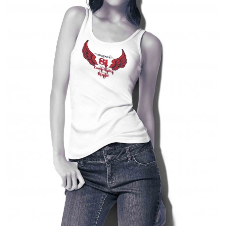 Hells Angels Support81 Wings Halter White Weiss