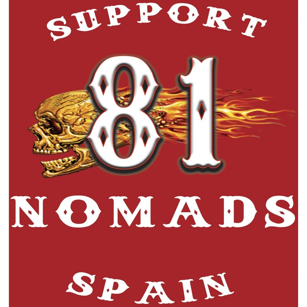 Hells Angels Nomads Spain Support 81 T-Shirt Anniversary