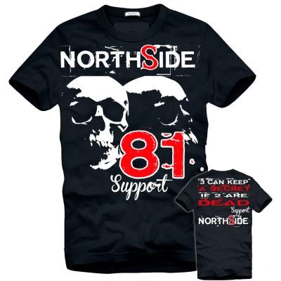 Hells Angels NorthSide Spain black Camiseta model 1 Front + Back side printed