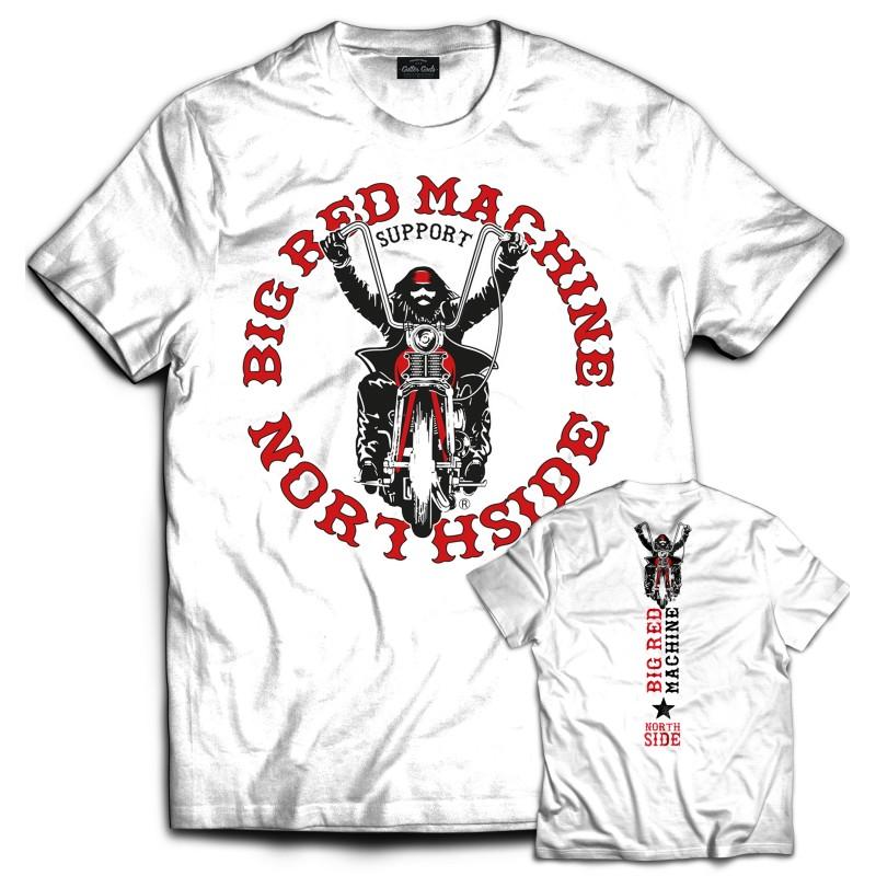 Hells Angels NorthSide Spain white T-Shirt model 3 Front + Back side printed