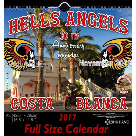 Hells Angels Support 81 Calendar 10 year Anniversary Limited Edition