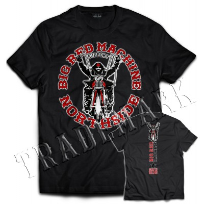 Hells Angels NorthSide Spain black T-Shirt model 3 Front + Back side printed