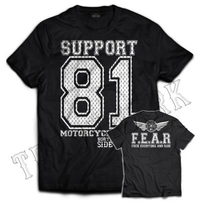 Hells Angels NorthSide Spain camiseta negra model 4 Front + Back side printed
