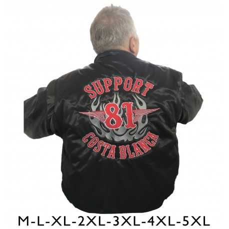 Hells Angels Support81 CWU  Bomber Jacket