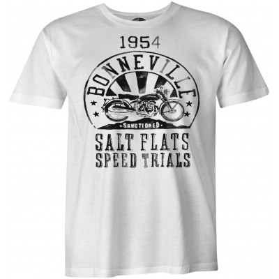 Bonneville Salt Flats Speed Trials Vintage biker camiseta