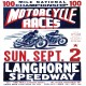 Langhorne Speedway  Vintage biker t-shirt
