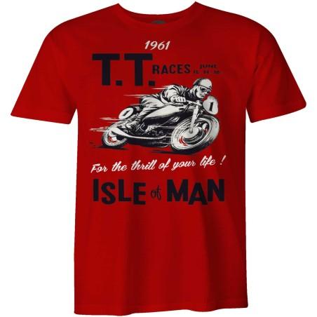 TT Races 1961 Isle of Man Vintage biker t-shirt