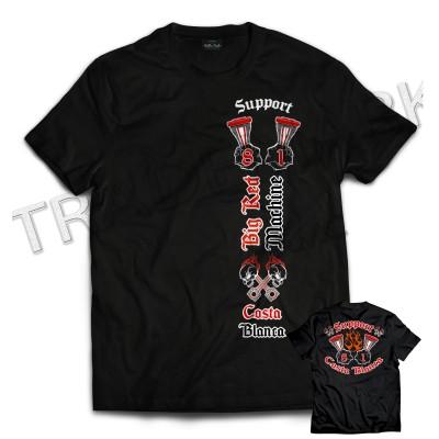 Hells Angels Support 81 Big Red Machine Engine T-Shirt